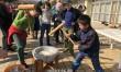学校創立60周年を輝かせよう/福岡初級で新年餅つき大会