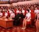 김정은원수님, 조선로동당창건 70돐경축 청봉악단의 공연을 관람