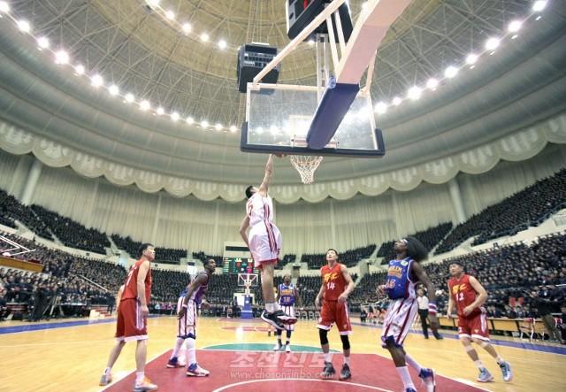 조미롱구팀 선수들의 혼합경기