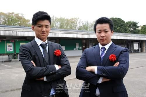 김조윤학생(오른쪽)과 김수륭학생