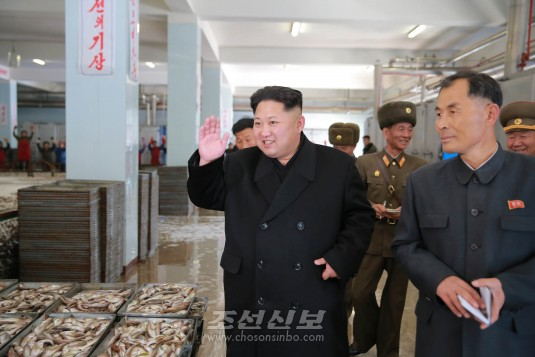 김정은원수님께서 8월25일수산사업소를 현지지도하시였다(조선중앙통신)